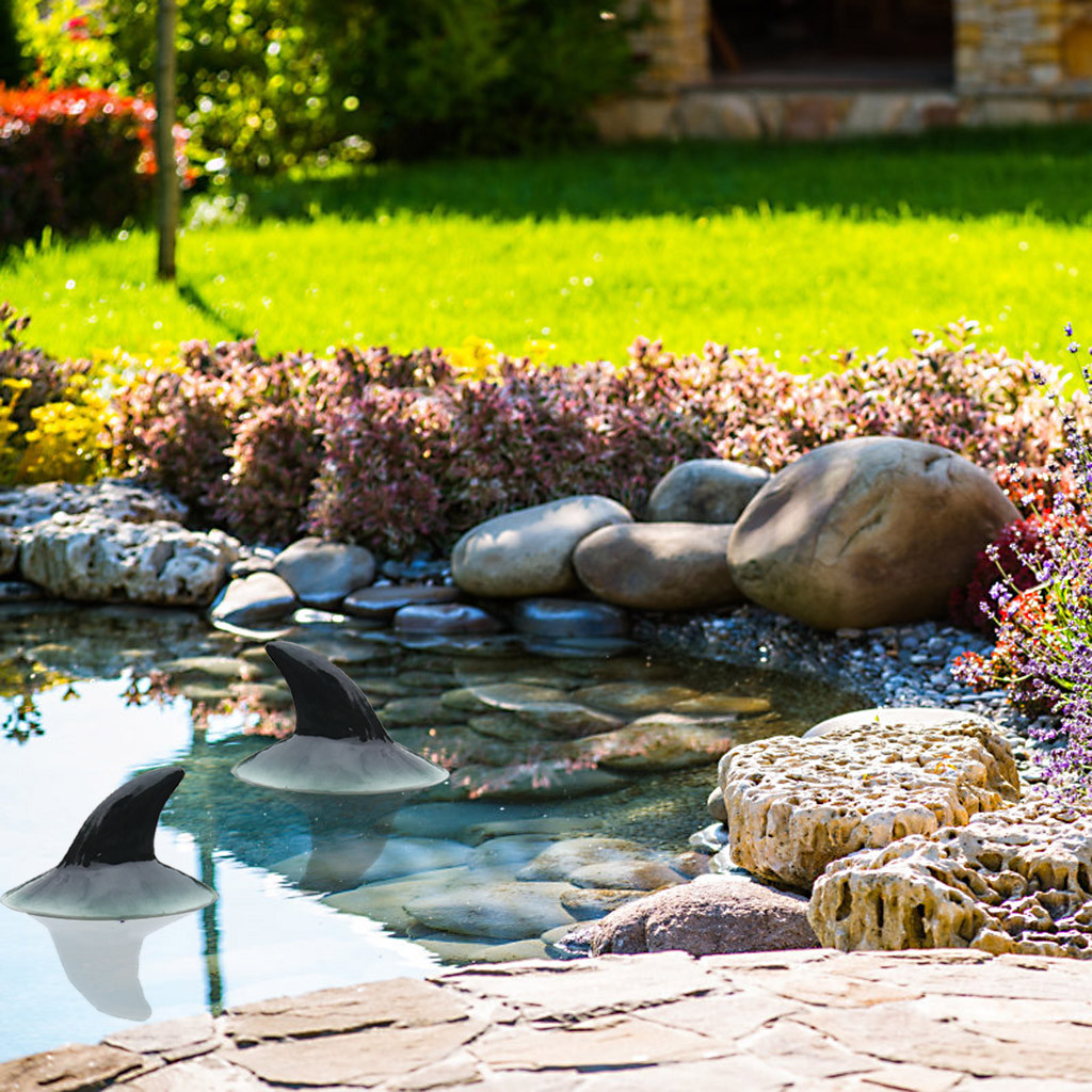 Garden Pool decoration Decoy Floating Shark Horn Resin Simulation For Landscape Gardening Decoration outdoor decoration jardin