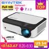 BYINTEK M1080 Smart (2 ГБ + 16 Гб) Android wifi FULL HD 1080P Портативный светодиодный мини-проектор 1920x1080 lcd видео для смартфона Iphone