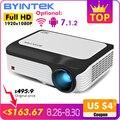 BYINTEK M1080 Smart (2 ГБ + 16 Гб) Android wifi FULL HD 1080P Портативный светодиодный мини-проектор 1920x1080 <font><b>lcd</b></font> видео для смартфона Iphone