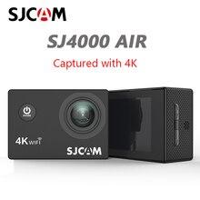 """Sjcam câmera de ação sj4000 air 4k, câmera full hd, 4k, 30fps, wifi, tela de 2.0 """", mini, para capacete, à prova d água câmera de gravação esportiva dv"""