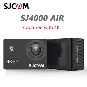 """Image 1 - Sjcam câmera de ação sj4000 air 4k, câmera full hd, 4k, 30fps, wifi, tela de 2.0 """", mini, para capacete, à prova d água câmera de gravação esportiva dv"""