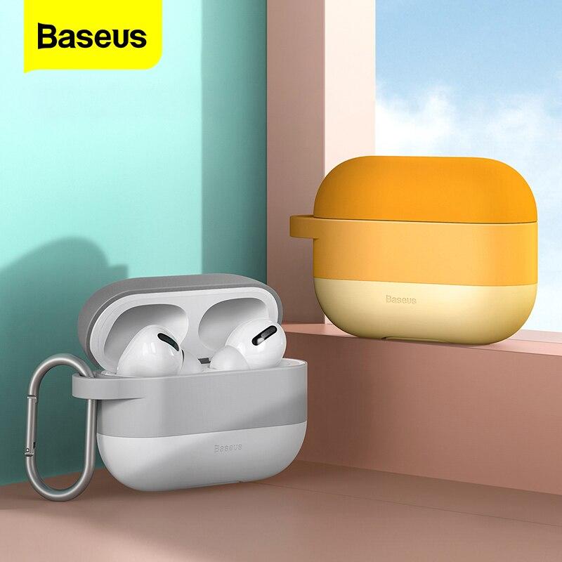 Funda de lujo Baseus para Airpods Airpod Pro 3 2 1, funda protectora inalámbrica de silicona para Apple Air Pods Pod 2 1 Pro Coque Fundas
