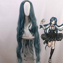 Gra Danganronpa Shirogane Tsumugi peruka Danganronpa V3: zabijanie harmonii peruka do Cosplay lekko zaciskane 120cm długości