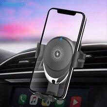 FDGAO cargador de coche inalámbrico Qi, 15W, para iPhone 11 Pro, XS, Max, XR, X 8, cargador inalámbrico rápido, soporte para teléfono de coche para Samsung S10, S9