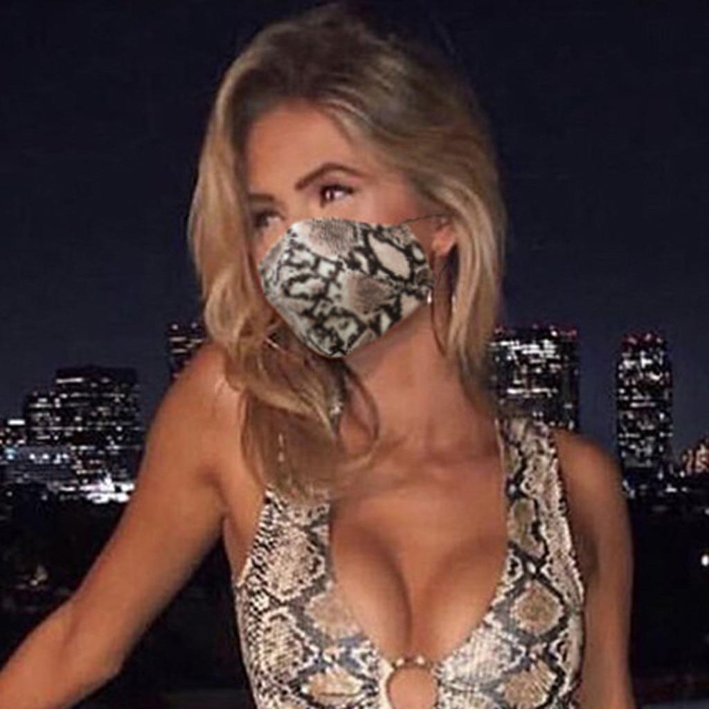 Маска для лица из змеиной кожи, персонализированная безопасная дышащая защитная маска с леопардовым принтом для женщин и взрослых