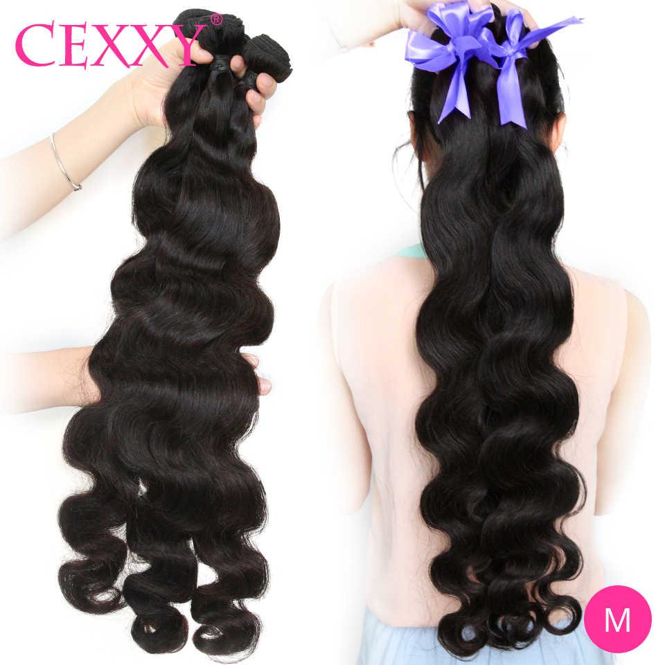 Cexxy peruano extensão de cabelo, pacotes de cabelo com ondas remy 3/4 de extensão para mulheres negras 40 Polegada