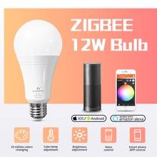 GLEDOPTO LED ZIGBEE ZLL 12W RGB+CCT bulb Colorful bulb AC100 240V RGBCCT 2700 6500K LED bulb Compatible with Amazon echo plus