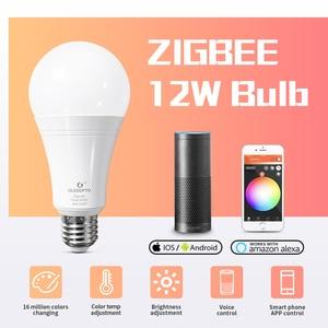 Image 1 - GLEDOPTO LED ZIGBEE ZLL 12W RGB + CCT glühbirne Bunte birne AC100 240V RGBCCT 2700 6500K led lampe kompatibel mit Amazon echo plus