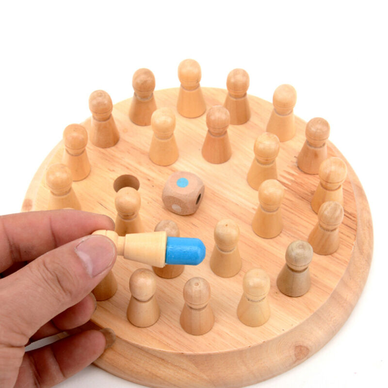 Kids Wooden Memory Match Stick Chess Game Fun Block Board Game Educational Color Cognitive Ability Toy For Children 4