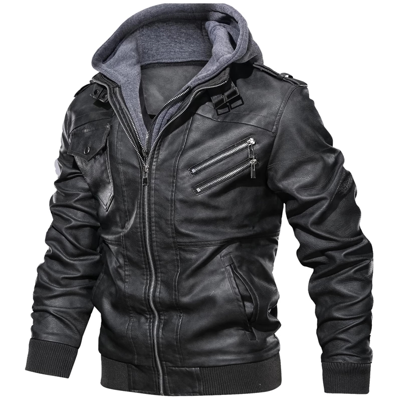 Jackets Motorcycle-Biker-Leather Coats Faux-Leather Winter Casual Autumn Couro Fashion