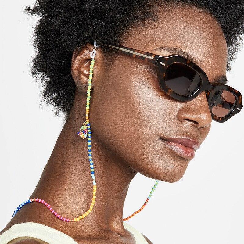 2020 Fashion Bohemian Colorful Handmade Rice Beads Glasses Chain Ethnic Women Chic Straps Sunglasses  Holder Accessories