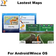 Akcesoria GPS 8G mapy gps karta sd 2018 najnowsza mapa dla WinCE nawigacja samochodowa gps mapa europa rosja USA CA AU izrael nawigacja samochodowa gps mapa tanie tanio Dicola CHS-Maps