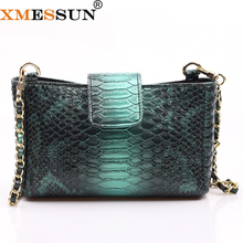 Xmesun 2020 حقيبة يد أنيقة جديدة مصممة تنقش جلد الثعبان الكتف عبر الجسم حقيبة سيدة حقيبة اليد الحقيبة العصرية حقيبة