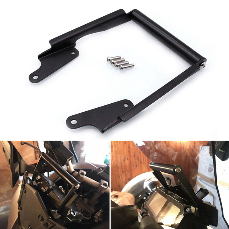 Navigation Bracket Phone Mobile Phone GPS Plate Bracket for YAMAHA MT-09 Tracer 900 FJ-09 2016-2017 Black
