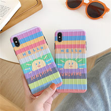 MGECD TPU Rainbow kleine zon koffer voelen iphone xr case Soft shell bescherming voor Apple X XsMAX 8Plus 7 plus Val Proof(China)