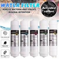5 Pcs Omgekeerde Osmose Ro Water Filters Vervanging Set 10 Inch Water Filter Cartridge Pp + Cto + Udf + uf + T33 Voor Diy Waterzuiveraar