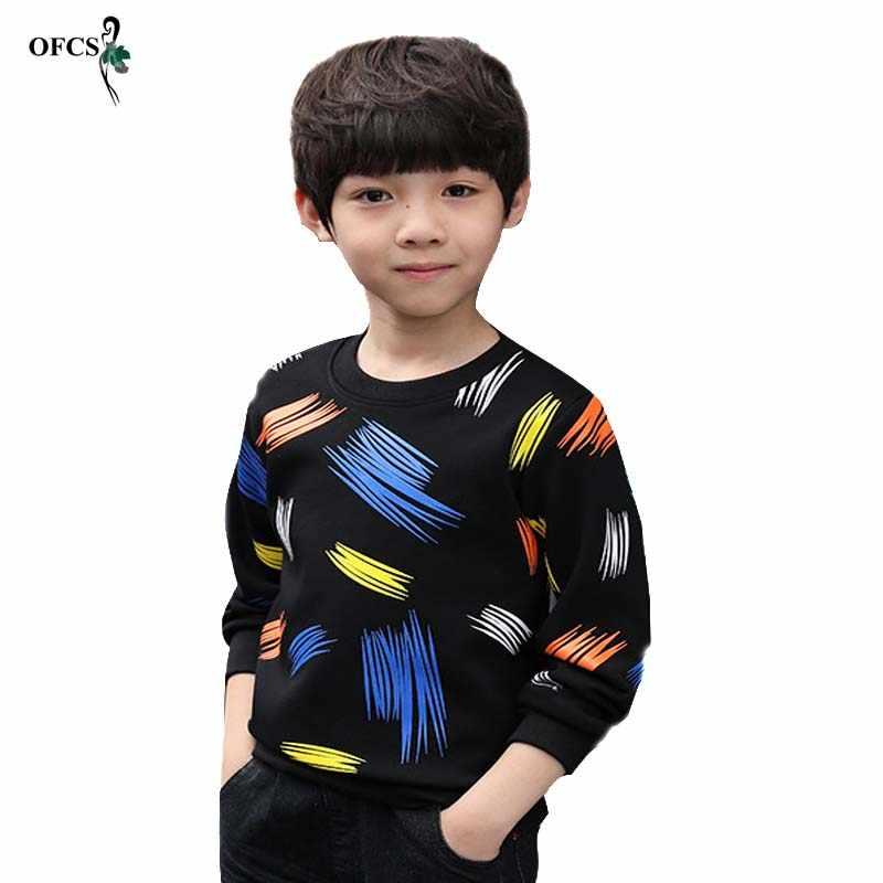 カラフルなカジュアル格子縞の幼児 boys セータープルオーバー黒/グレーコットンニットの服の秋ニット
