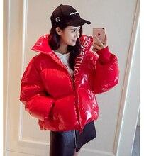 Cotton clothing women's short 2019 new winter coat women parka loose student cotton jacket bread clothing thick shiny coat