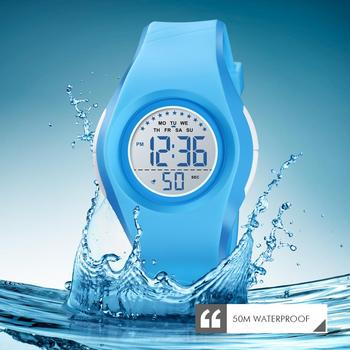 SKMEI Children Waterproof Watch Boys Girls LED Digital Sports Watches Plastic Kids Alarm Date Casual Watch Select Gift for kid 2