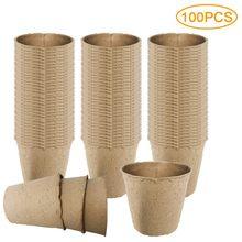 10/50/100 pces potes de turfa para mudas jardinagem semente starter bandeja kit planta biodegradável vasos de partida 6cm/8cm
