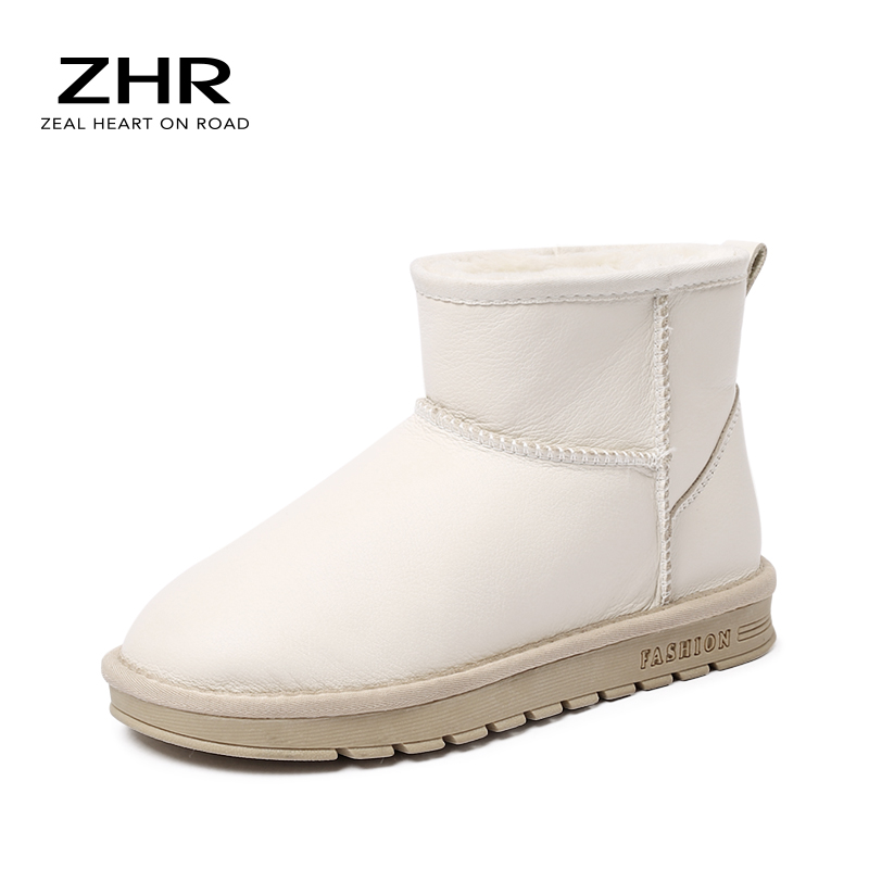 Jackshibo Femme Bottes D/'Hiver Fourrure Doublée Imperméable Outdoor Bottes de neige