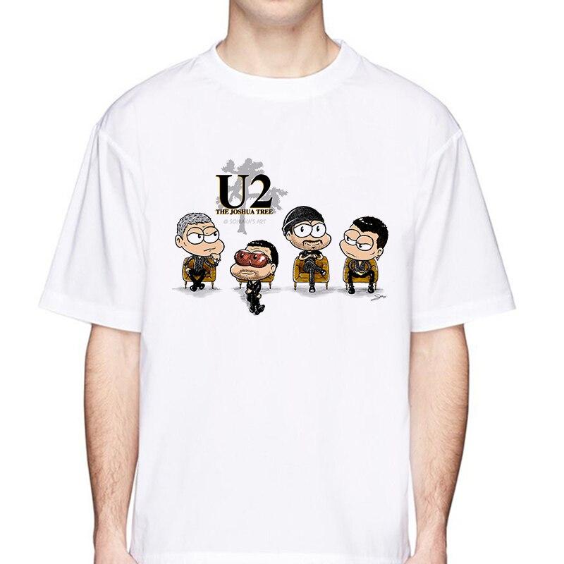 U2 New Arrival 2020 Men Fashion Printed T-Shirt Short Sleeve Tee Hipster Cool Design Tops Hipster Tshirt