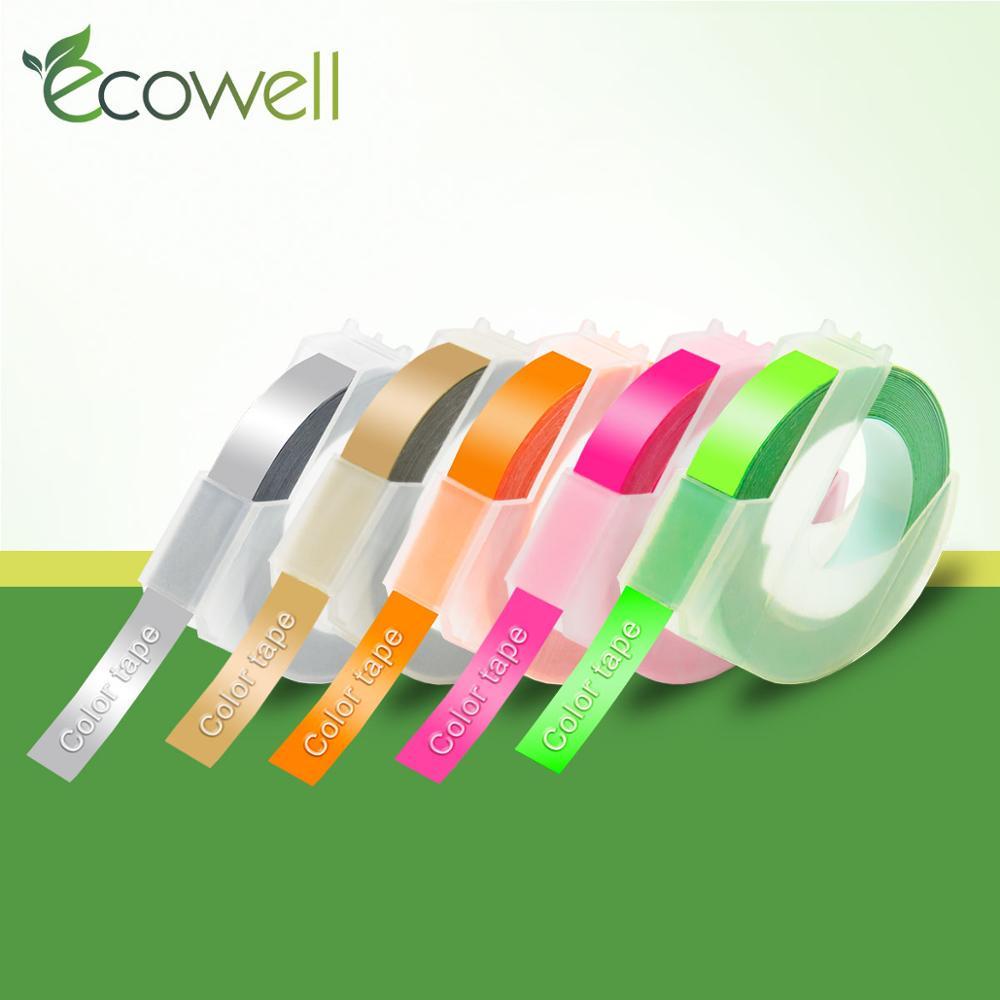 Ecowell 3D Plastic Embossing Tape Multicolor for Embossing Label Maker PVC Label for Dymo 1610 1540