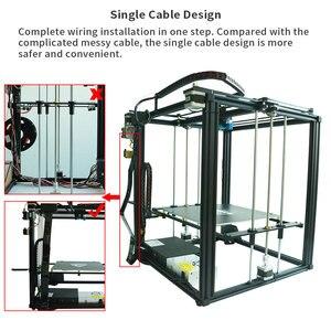 Image 5 - Tronxy ulepszony nowy X5SA 24V 3D drukarki zestawy DIY Auto poziom duży rozmiar wydruku ciepła łóżko 3d maszyna Filament drukowanie Facesheild