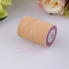 142 Yards 0.5mm Round Polyester Waxed Thread Cord Leather Sewing Hand Stitching Jewelry Craft