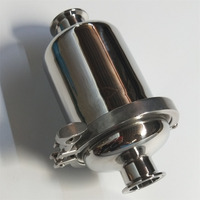 Short Sanitary Inline Strainer Fit 19/25/32/38 Pipe Tri Clamp SS304 Stainless Steel Wine Wort Filter Ferrule OD 50.5 Body 102mm