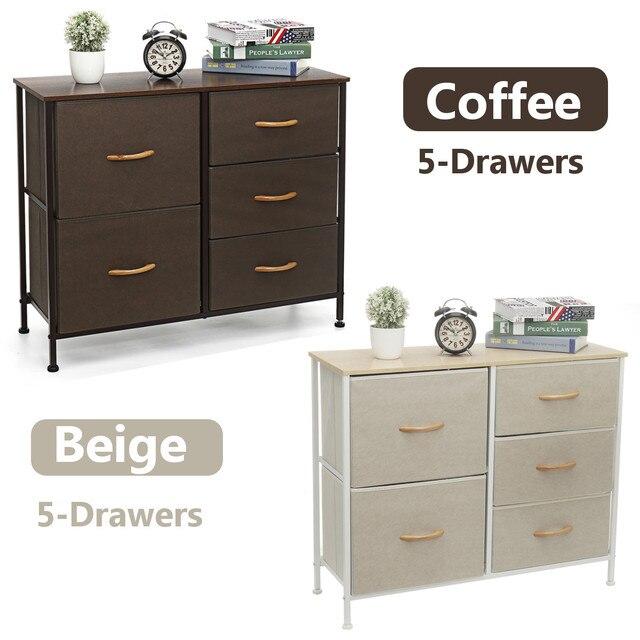 5 Drawers Fabric Dresser  2