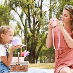 Portable Digital Creative Print Camera DIY Digital Camera Cartoon Print Camera Child Camera Outdoor Photography Props