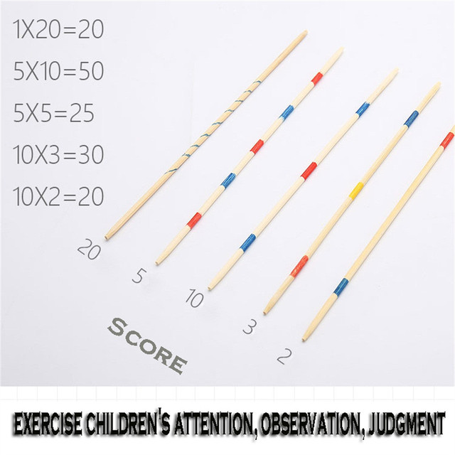 Baby Educational Toys Wooden Traditional Mikado Spiel Pick Up Sticks With Box Game Educational Toys For Parent-child Interaction 5