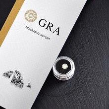 Serbest moissanit 6.5mm GH renk 1.0 karat yuvarlak parlak kesim moissanit takı bilezik yüzük DIY malzeme VVS1