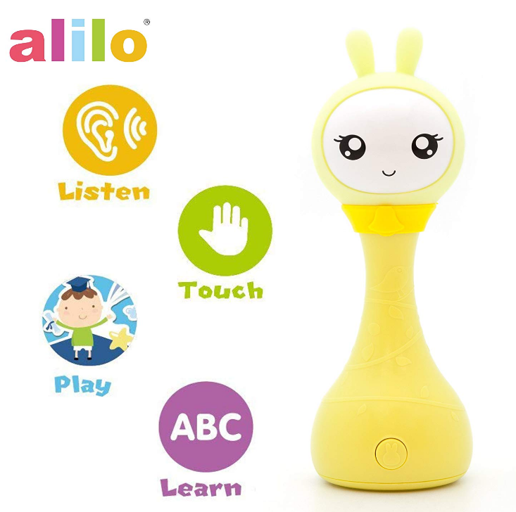 P1 Alilo Smarty Bunny Newborn Nursery Rhymes Electron Rattle Toy With Stories Color Learning Music Player