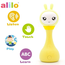 P1 Alilo Smarty Bunny Newborn Nursery Rhymes Electron Rattle Toy with Stories Color Learning
