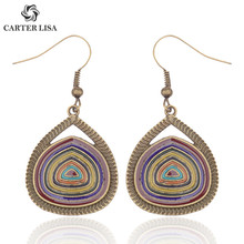 CARTER LISA Afghan India Jhumka Annual Ring Statement Earring Drop Pendientes Hippie Tribal Egypt Nepal Gypsy Oorbellen Jewelry(China)