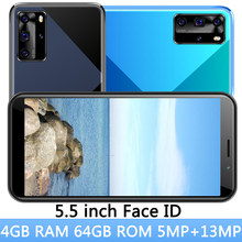 5mp + 13mp 8c face id 5.5 polegada tela 4g ram 64g rom telefones celulares desbloqueado frente/voltar câmera smartphones versão global original