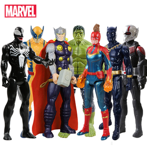 30cm Marvel Avengers Venom Hulk Black Panther Ant Man Captain America Thor Wolverine Thanos Action Figure Kid Toy For Children