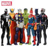 30cm marvel vingadores spiderman veneno hulk preto pantera formiga homem de ferro capitão américa thor wolverine thanos figura de ação brinquedo do miúdo