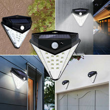 Outdoor Garden 32 LED Wall Light Solar PIR Motion Sensor Out