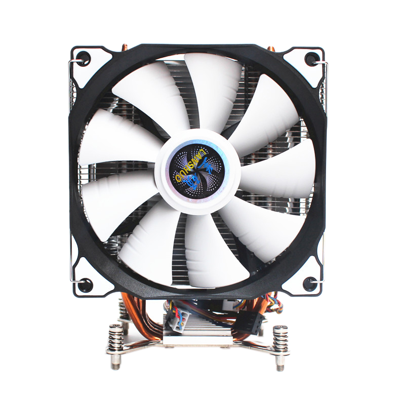 LANSHUO CPU Silent Dual Fan 4 Heat Pipe 4 Wire Intelligent Temperature Control CPU Cooler Fan for Intel LGA 2011 Self-Contained