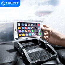 ORICO antypoślizgowa samochód uchwyt telefonu na deskę rozdzielczą samochodu wsparcie dla smartfonów podkładka antypoślizgowa stojak na telefon uchwyt na biurko podwójne gniazdo uchwyt