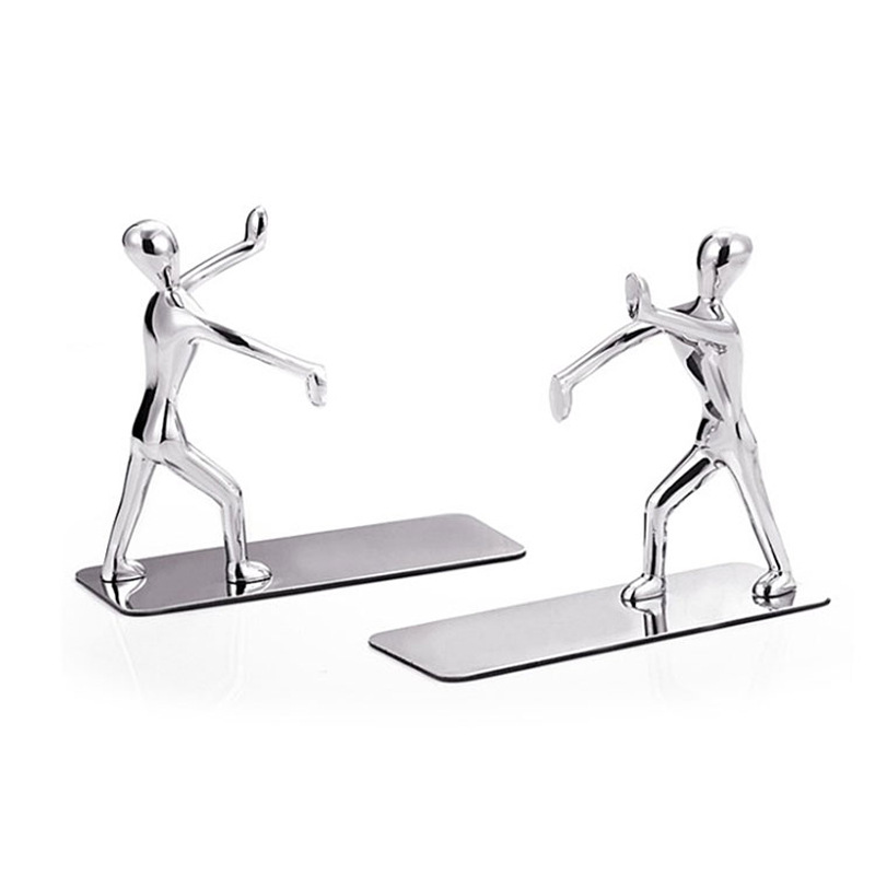 1 Pair Book Holder Humanoid Figure Non-Skid Art Desk Organizer Bookshelf Office Accessories Office Study Decoration
