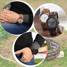 BOBO BIRD relojes de madera para hombre de lujo 2020, reloj de pulsera de cuarzo de madera, reloj de marca superior, reloj en Caja de regalo de madera relogio masculino