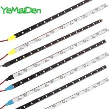 1x30CM 15 SMD 자동차 LED 스트립 라이트 자동차 스타일링 인테리어 장식 분위기 램프 외관 수정 주변 조명 DRL