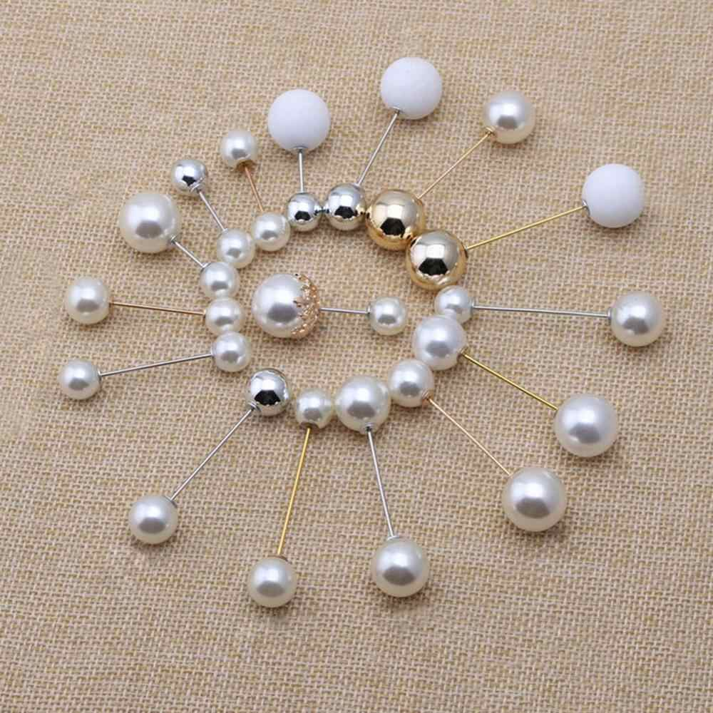 2019 di Alta Qualità Dell'annata Oro Spilla Spilli Doppia Testa di Simulazione di Perle di Grandi Dimensioni Grandi Spille Per Le Donne Monili di Cerimonia Nuziale Accessori