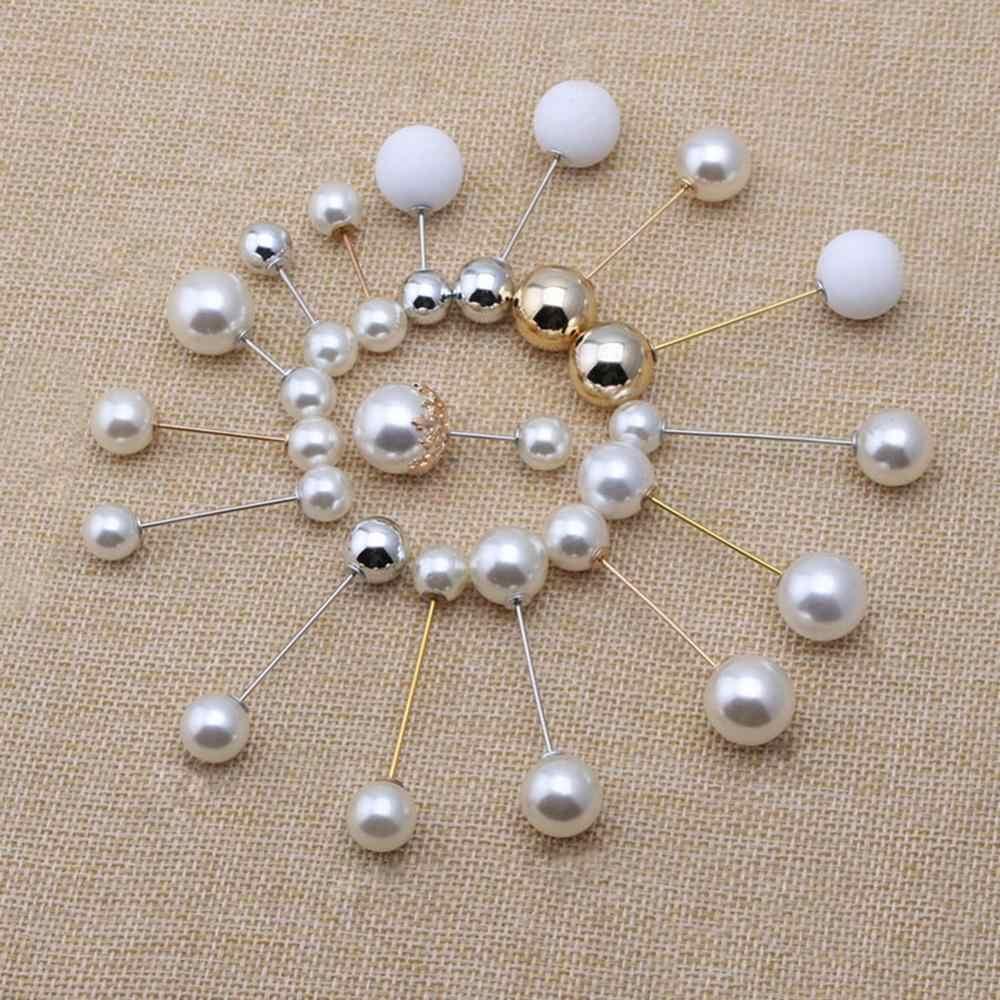 Wanita Fashion Bros Set Mutiara Bros Pin Lencana Sweter Mantel Dekoratif Perhiasan Pin Bros untuk Wanita