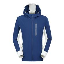 Men Sport Jacket Winter Hooded Softshell for Windproof and Waterproof Soft Coat Shell Outdoor Fishing Clothing