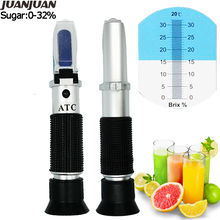 New arrival Brix 0-40% Honey milk Fruit sweetness meter Tester Handheld refractometer Automatic temperate compensation